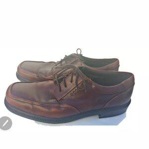 Ecco Brown Men's Dress Shoes Square Toe Size 43 Co